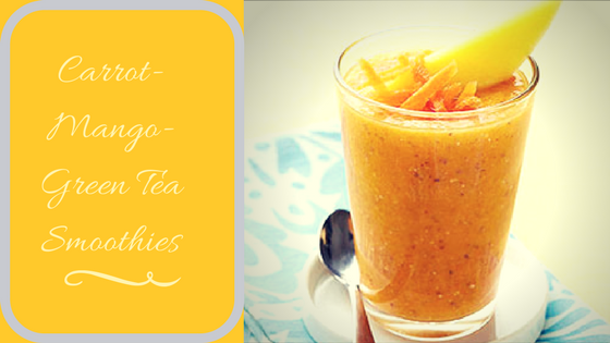 Carrot-Mango-Green Tea Smoothies