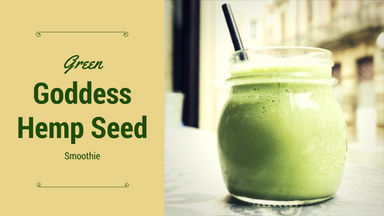 GREEN GODDESS HEMP SEED SMOOTHIE