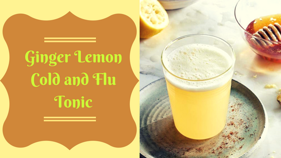 Ginger Lemon Cold and Flu Tonic