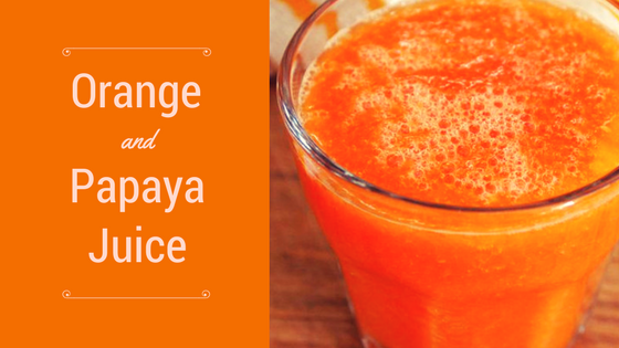 Orange and Papaya Juice