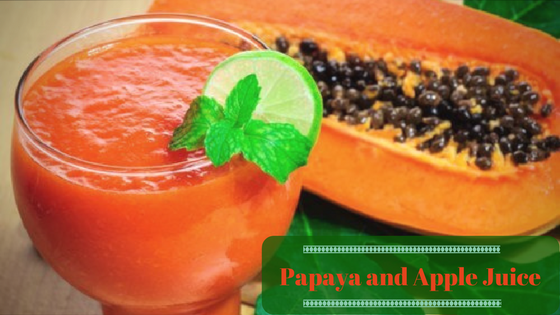 Papaya and Apple Juice