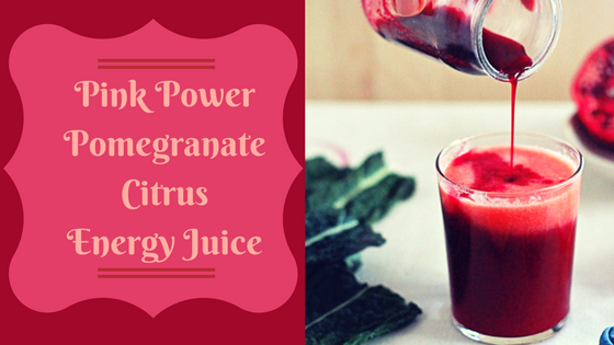 Pink Power Pomegranate Citrus Energy Juice