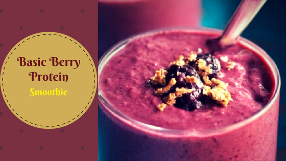 BASIC BERRY PROTEIN SMOOTHIE