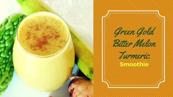 Green Gold Bitter Melon Turmeric Smoothie