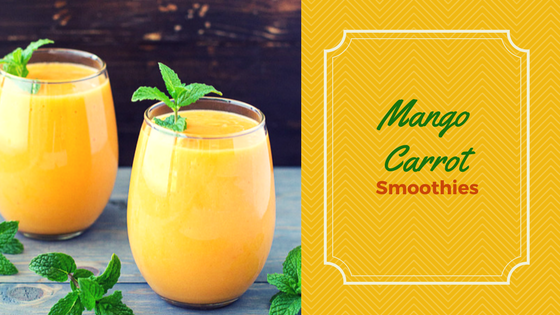 Mango Carrot Smoothies