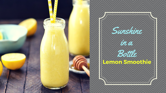 Sunshine in a Bottle Lemon Smoothie
